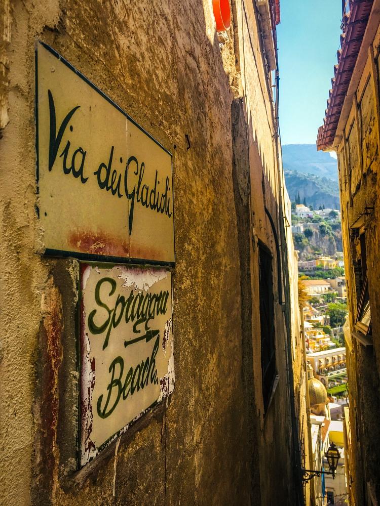 street in Positano