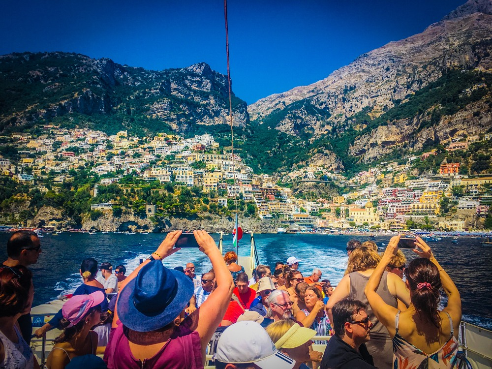 Positano by ferry