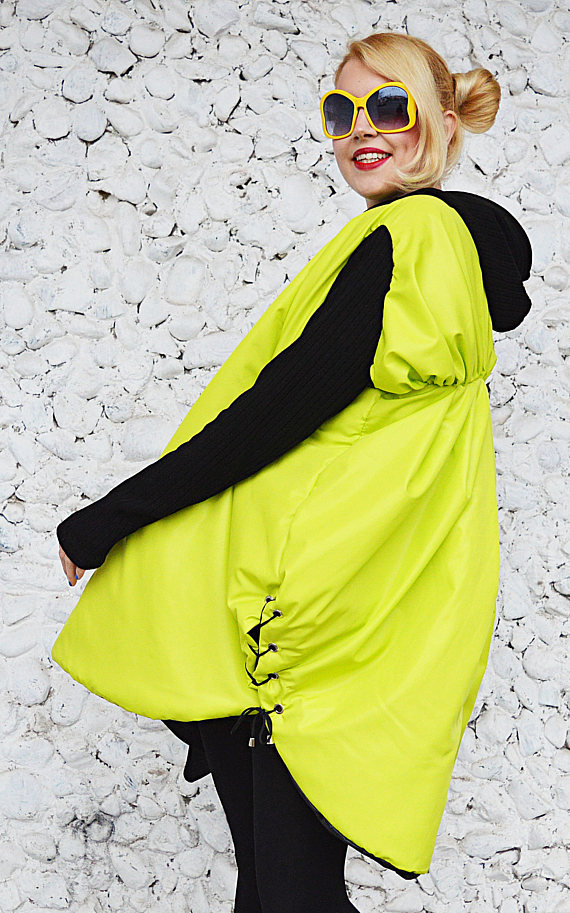 lime cocoon jacket