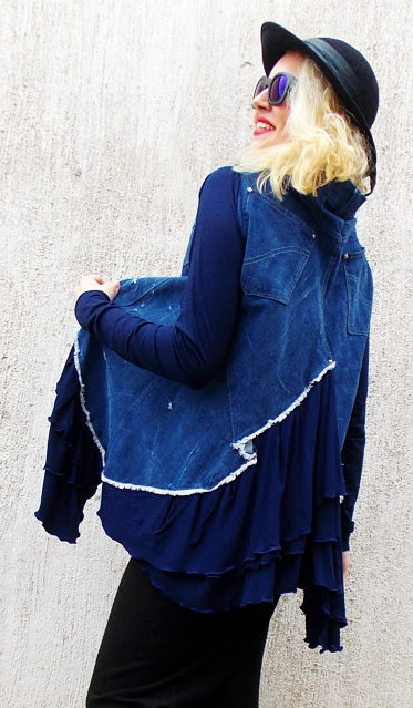 denim jacket flounces