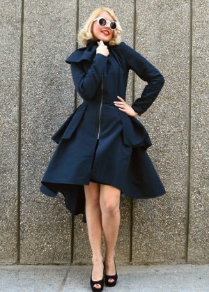 black taffeta jacket