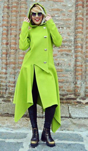 light green coat