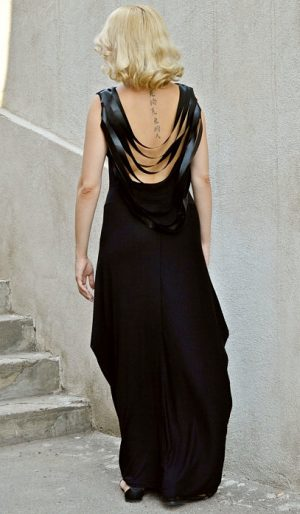 extravagant backless dress