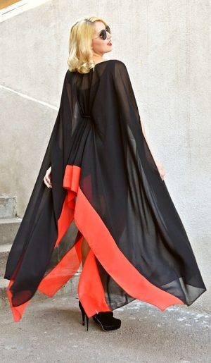 black and red kaftan