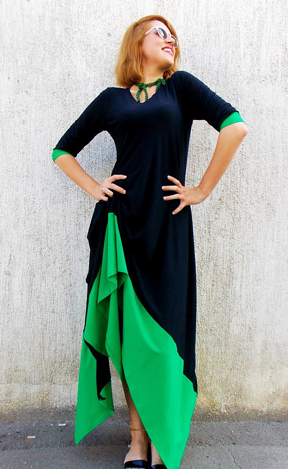 dress with green
