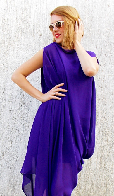 purple kaftan