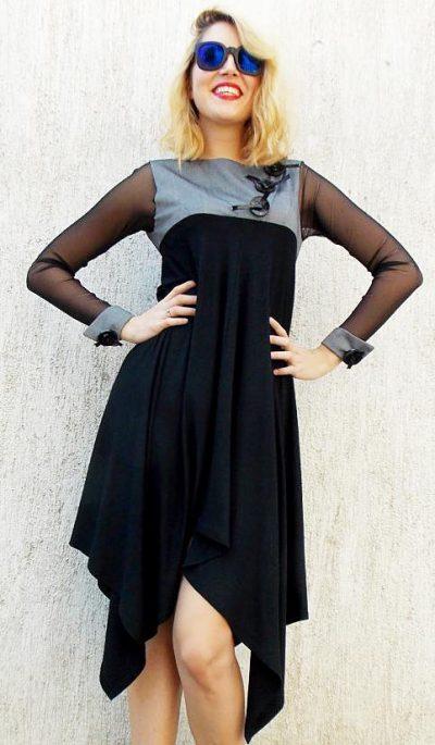 flared asymmetrical dress