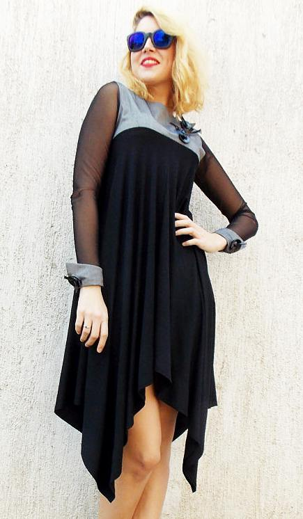 asymmetrical dress