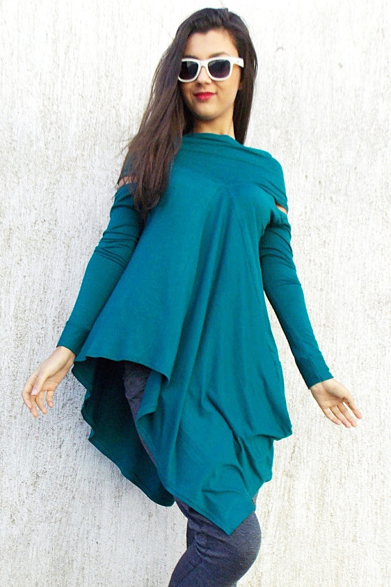 teal viscose tunic