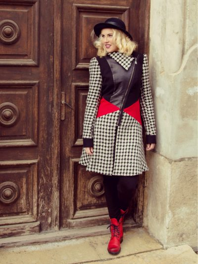 block color winter coat