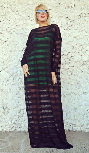 striped sheer dress
