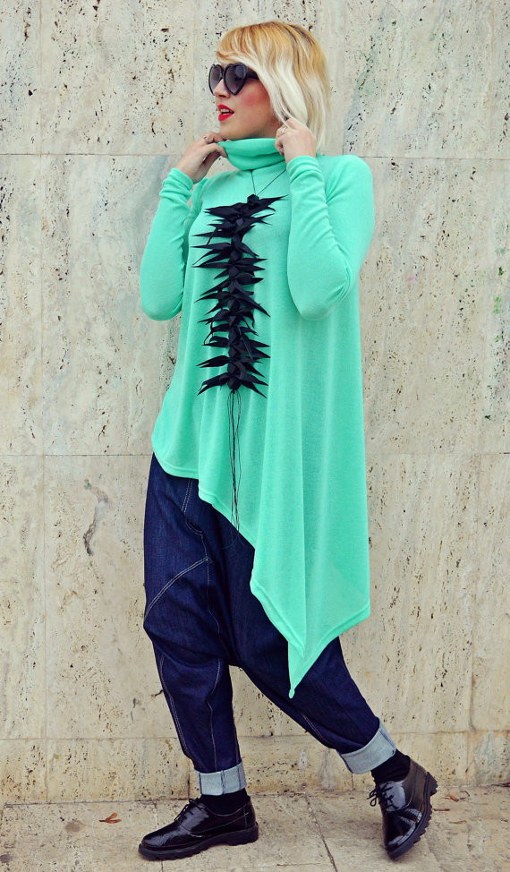 Asymmetrical Emerald Top