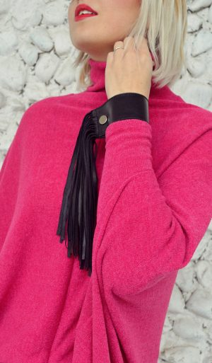 fringes black bracelet