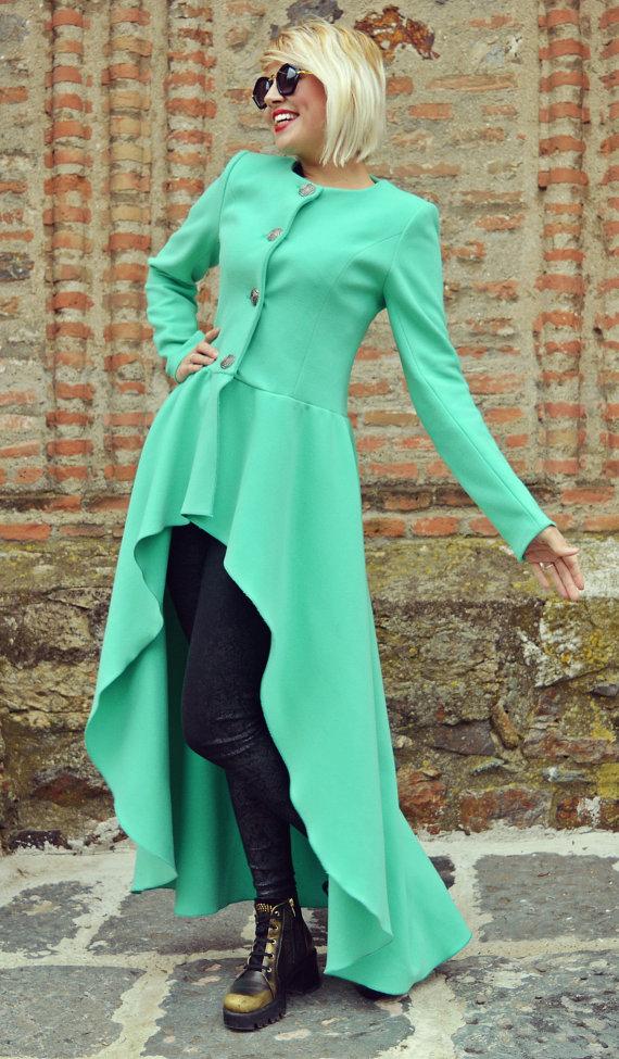 extravagant mint coat