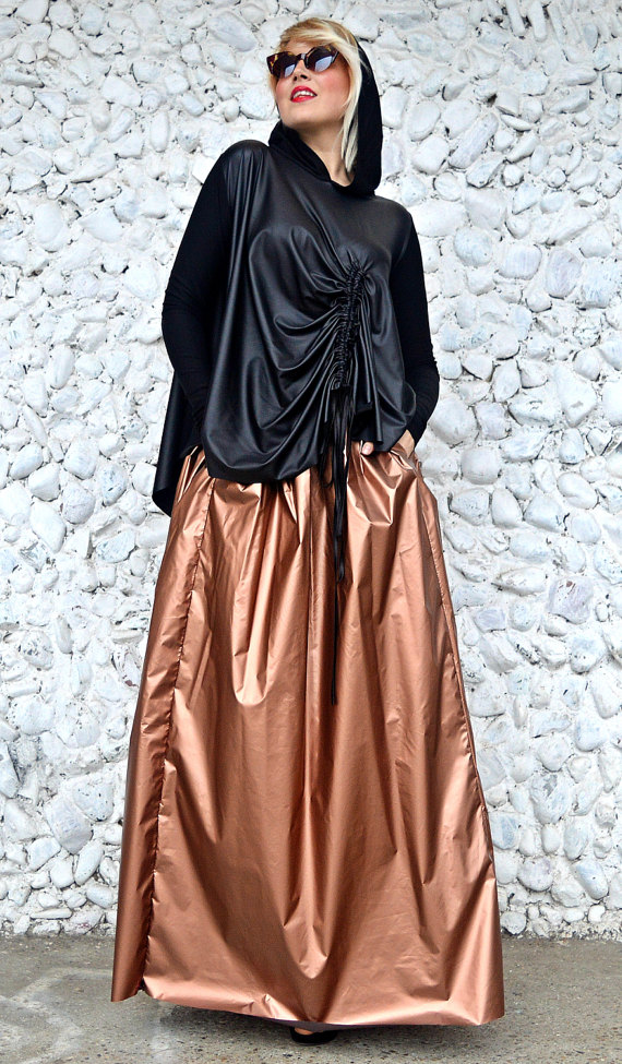 bronze slicker skirt