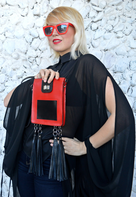 black and red bag