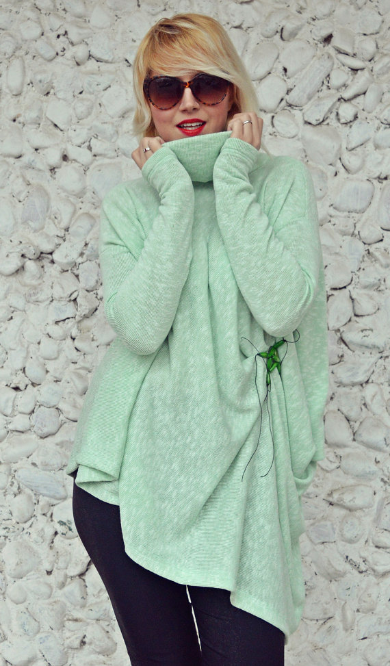 light green winter blouse