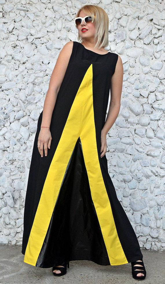 extravagant black dress