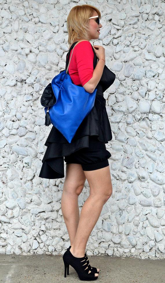 blue shoulderbag