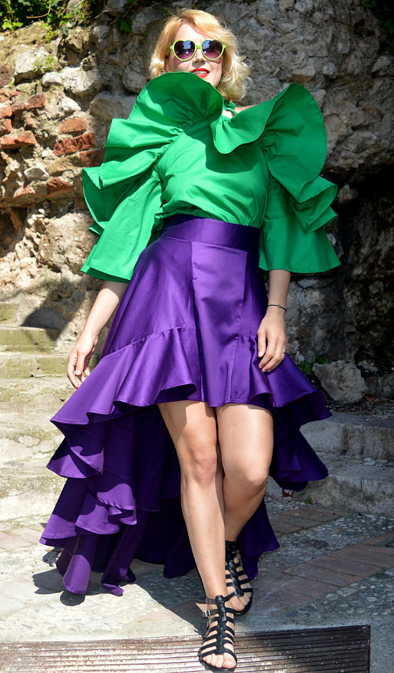 Purple Ruffled Skirt