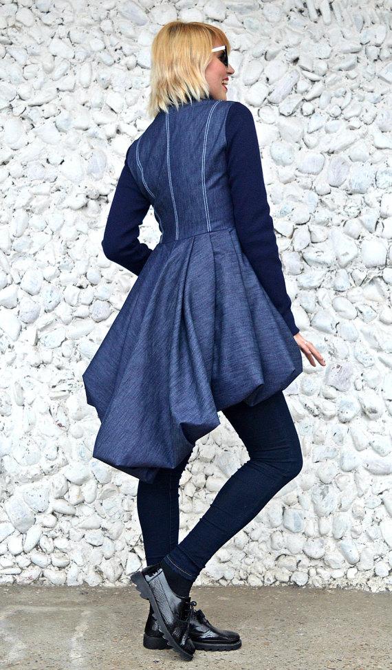 long tail denim jacket