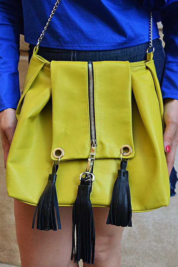 lemon yellow bag
