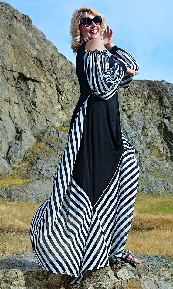 maxi dress striped