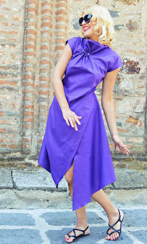 purple summer dress