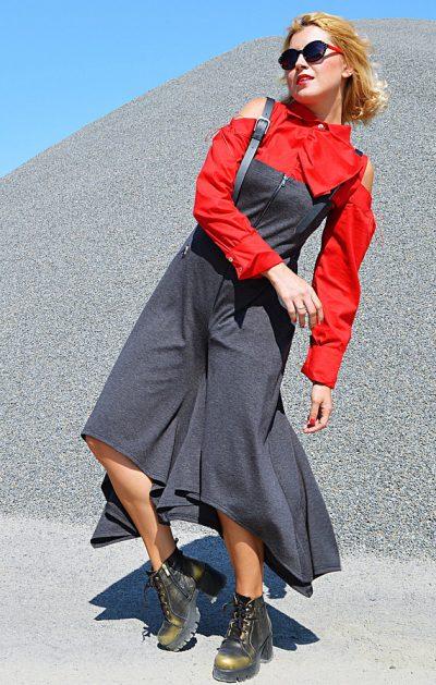 extravagant grey jumpsuit