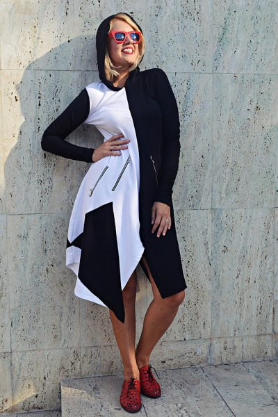 black white hoodie
