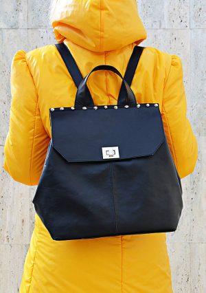genuine leather backpack