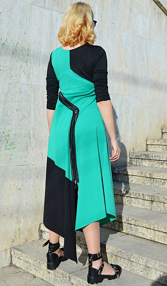black emerald maxi dress