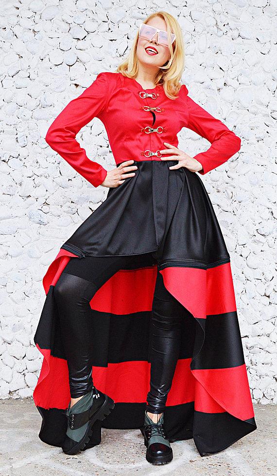 red stripes jacket