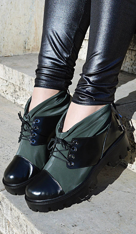 military leather boots