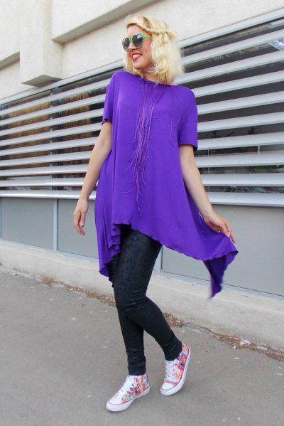 purple asymmetrical top