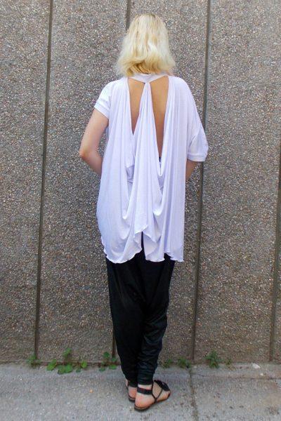 asymmetrical white top