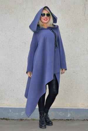 petrol grey wool coat