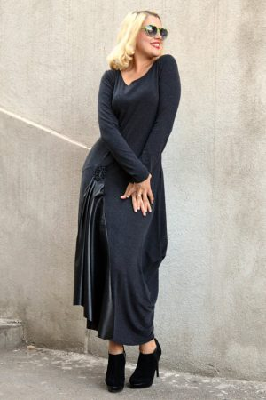 anthracite maxi dress