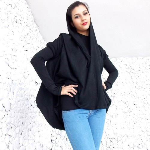 black hooded tunic