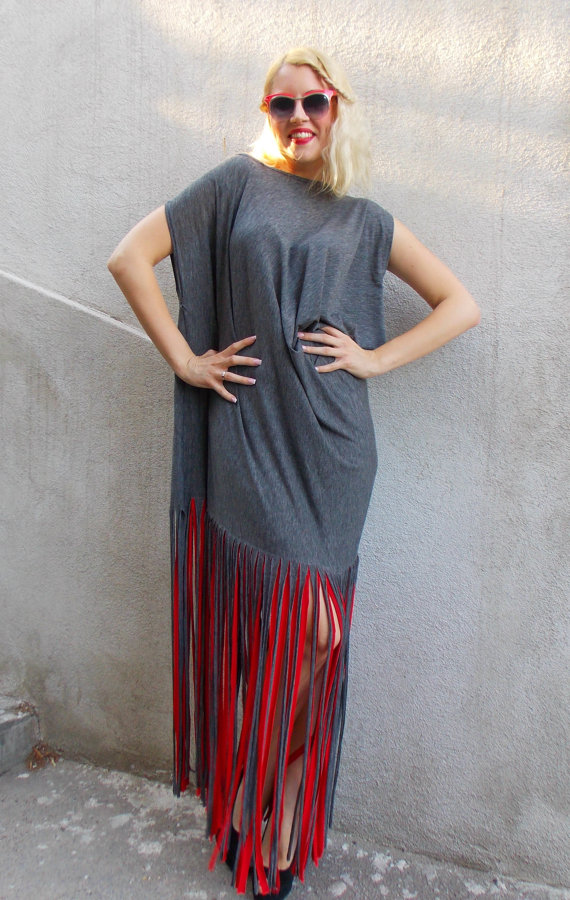 summer dress with fringes