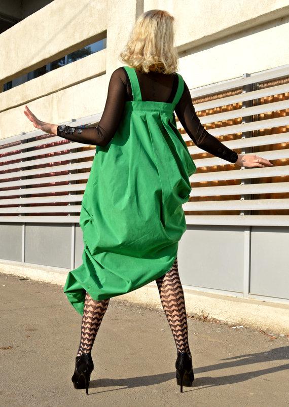 green maxi dress