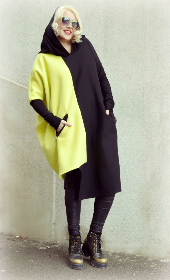 black and yellow sweatshirt