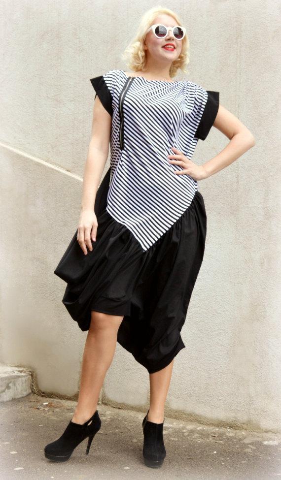 black jumpsuit with stripes