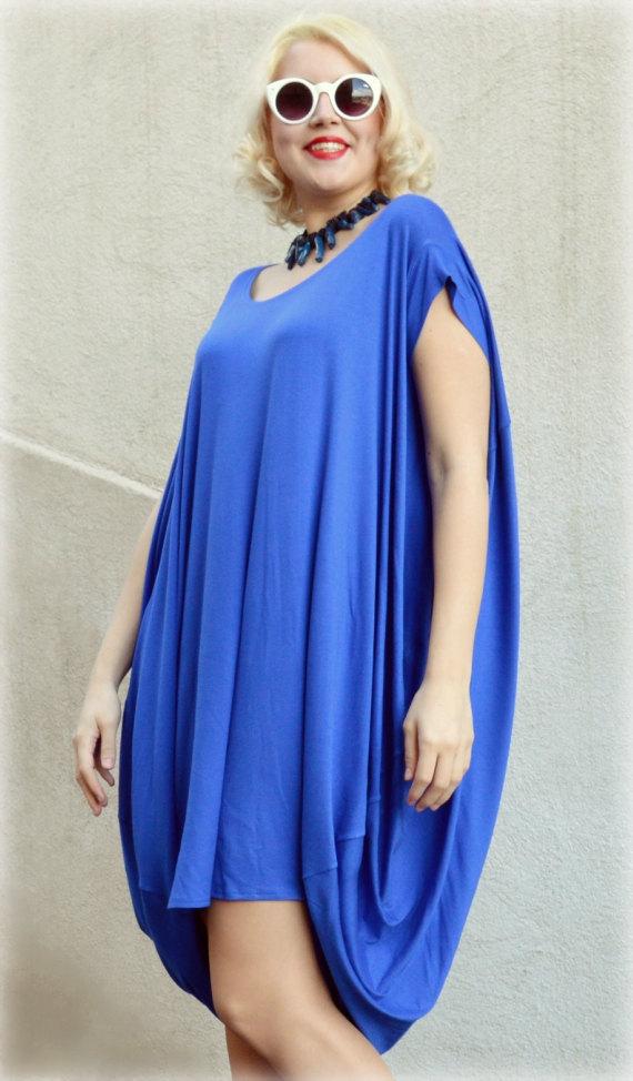 Royal Blue Casual Dress Short Sleeved Maxi Dress Tdk167 Teyxo