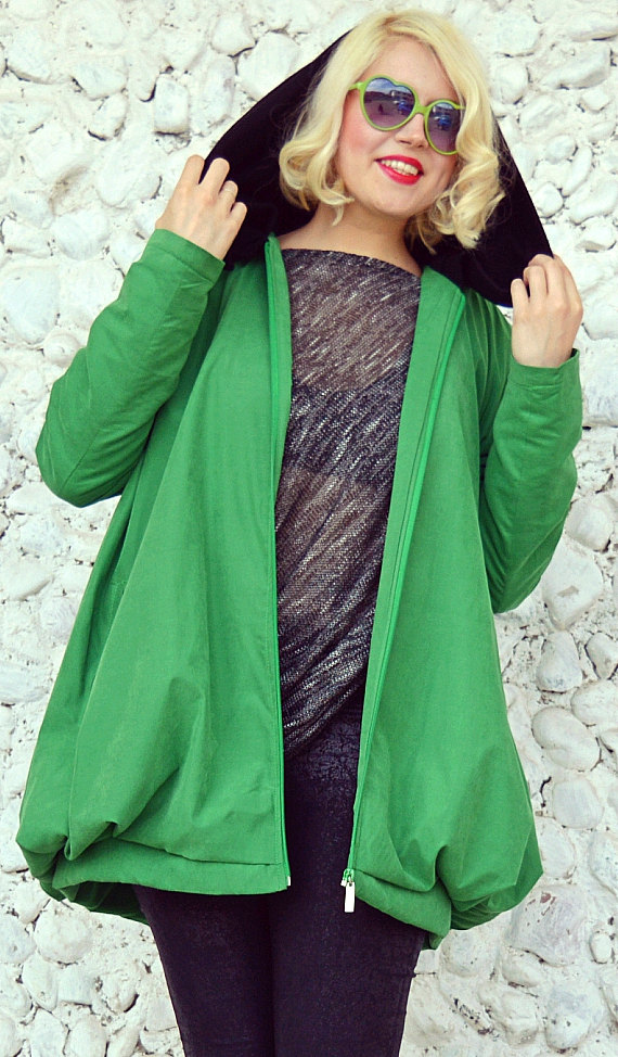 green waterproof jacket