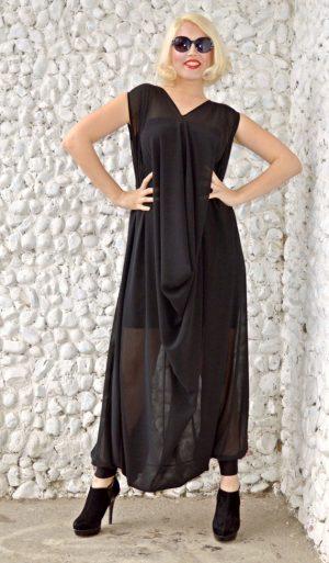 extravagant black jumpsuit