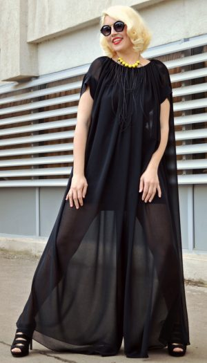 black maxi jumpsuit
