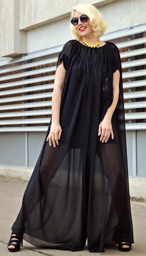 black maxi jumpsuit