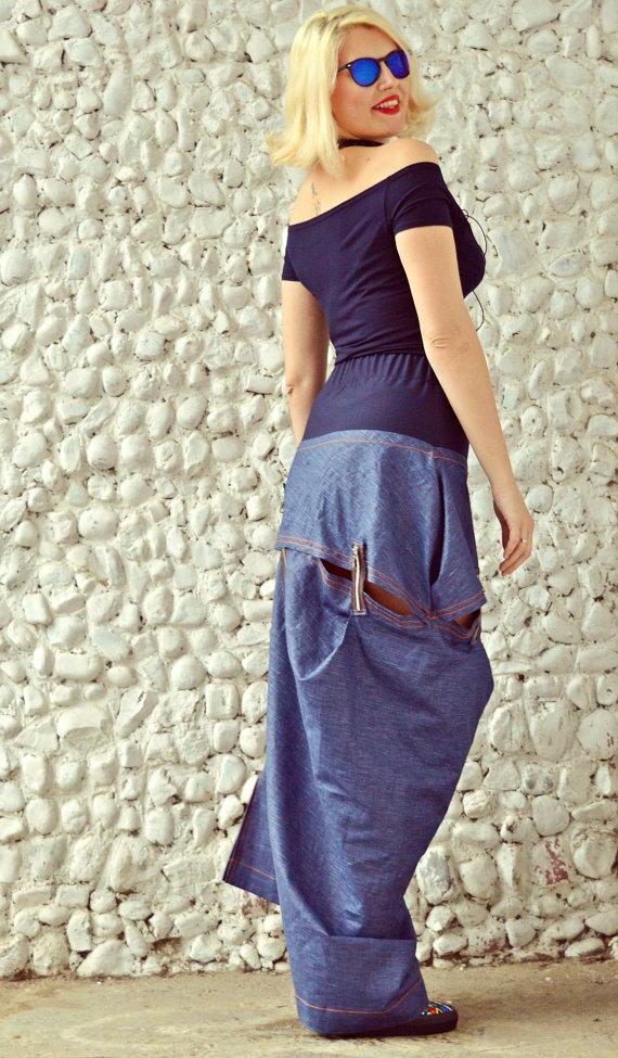 denim street style skirt