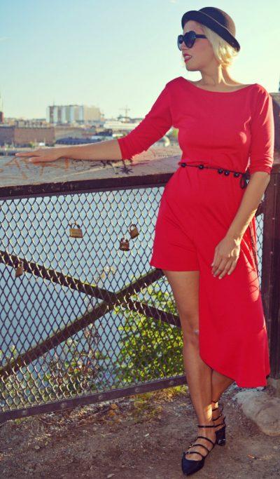 extravagant red jumpsuit